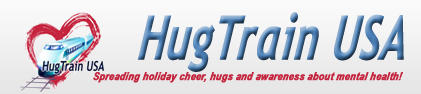 Hug train logo (fundraising effor benefiting Mental Health America)