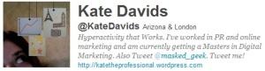 my twitter bio